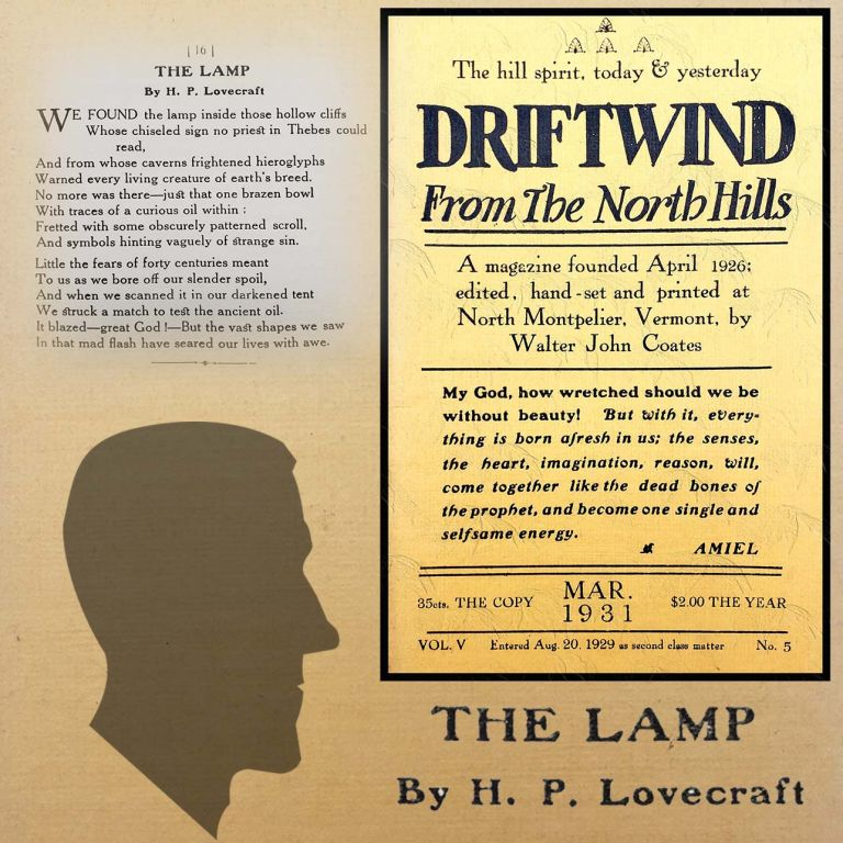 Fungi From Yuggoth: The Lamp [First Appearance]. H. P. Lovecraft.