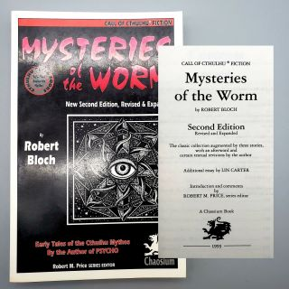 Mysteries of the Worm. Robert Bloch