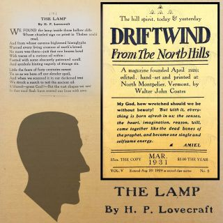 Fungi From Yuggoth: The Lamp [First Appearance]. H. P. Lovecraft