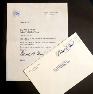 Typed Letter Signed from the Office of the Vice-President. Gerald R. Ford