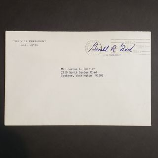 Typed Letter Signed from the Office of the Vice-President